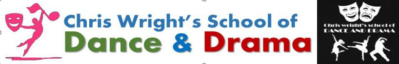 logo for Chris Wright's School of Dance and Drama, Southport